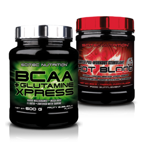 Scitec Nutrition - BCAA Glutamine Express + Hot Blood