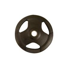 Fekete gumírozott 30 mm tárcsa - 10 kg