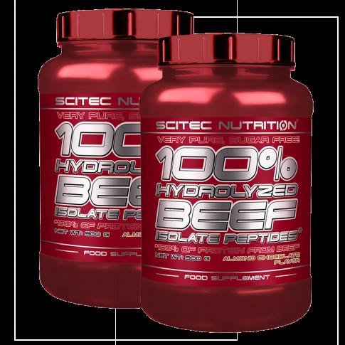 100% Hydrolyzed Beef Isolate Peptides - 2 x 900 g csomagakció