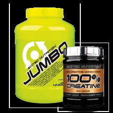 Jumbo 4400 g + ajándék 100% Creatine 300 g