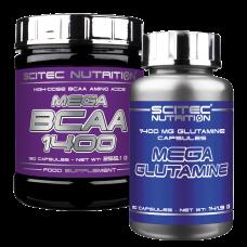 Mega BCAA + Mega Glutamine csomagakció
